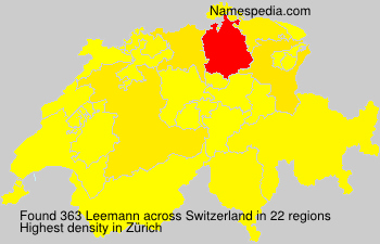 Surname Leemann in Switzerland