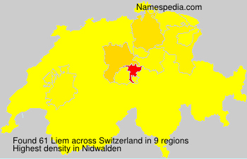 Surname Liem in Switzerland