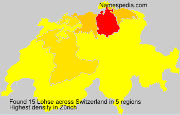 Surname Lohse in Switzerland
