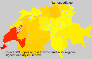 Surname Lopes in Switzerland