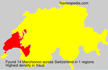 Surname Marchionno in Switzerland