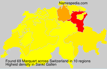 Surname Marquart in Switzerland