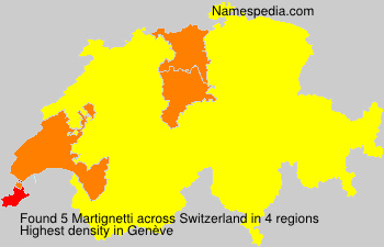Surname Martignetti in Switzerland