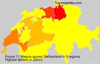 Surname Mascia in Switzerland