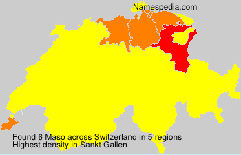 Surname Maso in Switzerland