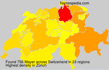 Surname Mayer in Switzerland