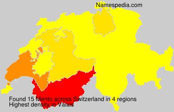 Familiennamen Mento - Switzerland
