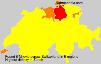 Surname Mijovic in Switzerland