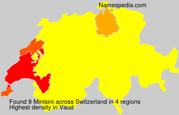 Surname Minisini in Switzerland