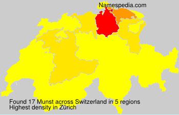 Surname Munst in Switzerland