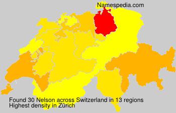 Surname Nelson in Switzerland
