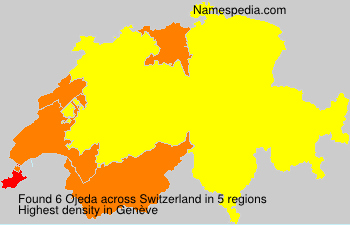Surname Ojeda in Switzerland