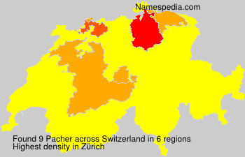 Surname Pacher in Switzerland
