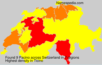 Surname Pacino in Switzerland