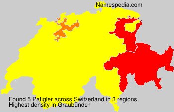 Surname Patigler in Switzerland