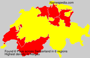 Surname Paus in Switzerland