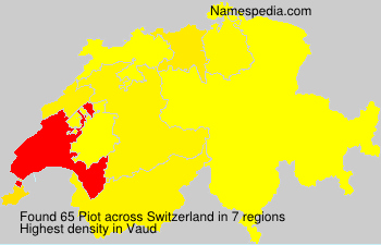 Surname Piot in Switzerland