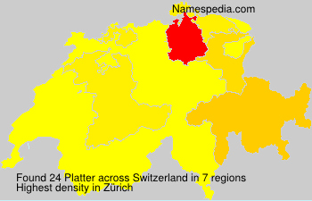 Surname Platter in Switzerland