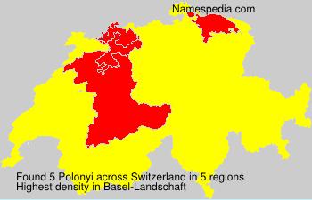 Surname Polonyi in Switzerland