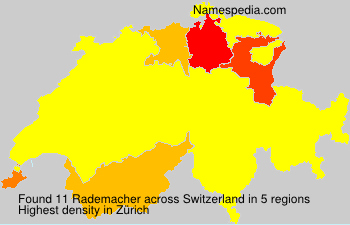 Surname Rademacher in Switzerland