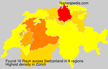 Surname Rauh in Switzerland