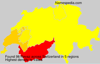 Surname Revaz in Switzerland