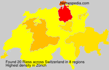 Surname Riess in Switzerland