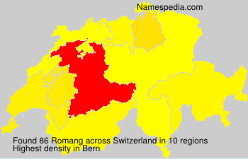 Surname Romang in Switzerland