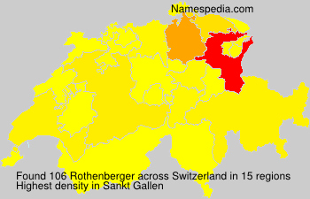 Surname Rothenberger in Switzerland