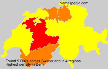 Familiennamen Ruijs - Switzerland