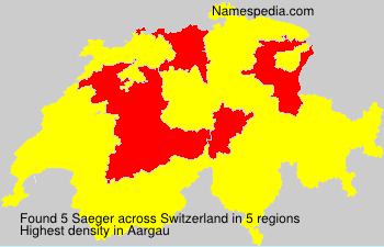 Surname Saeger in Switzerland