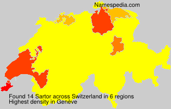 Surname Sartor in Switzerland