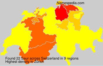 Surname Saur in Switzerland