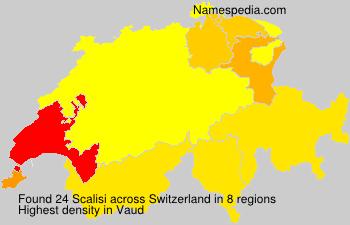 Surname Scalisi in Switzerland