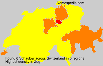 Surname Schauber in Switzerland