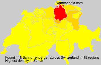 Surname Schnurrenberger in Switzerland