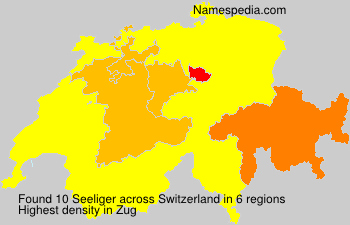 Surname Seeliger in Switzerland
