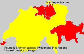Surname Shenton in Switzerland