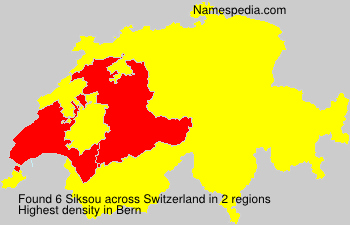 Surname Siksou in Switzerland
