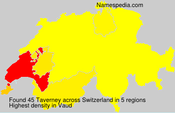 Surname Taverney in Switzerland