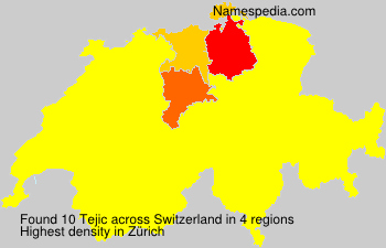 Surname Tejic in Switzerland