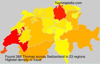 Surname Thomas in Switzerland