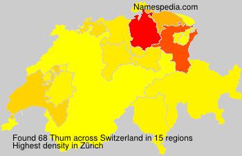 Surname Thum in Switzerland