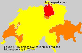 Surname Tilly in Switzerland