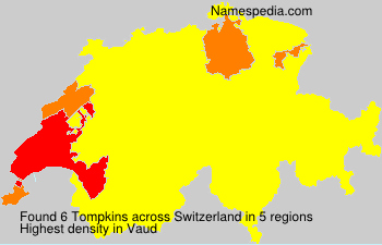 Surname Tompkins in Switzerland