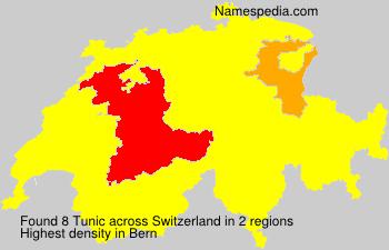 Familiennamen Tunic - Switzerland