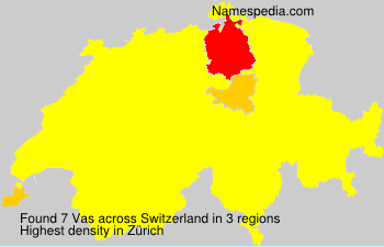 Surname Vas in Switzerland