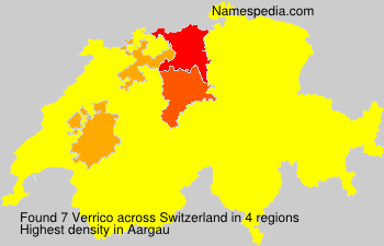 Surname Verrico in Switzerland