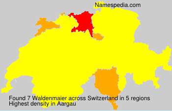 Surname Waldenmaier in Switzerland
