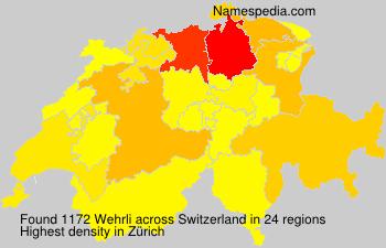 Surname Wehrli in Switzerland